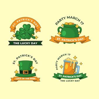 St. patrick's day label set