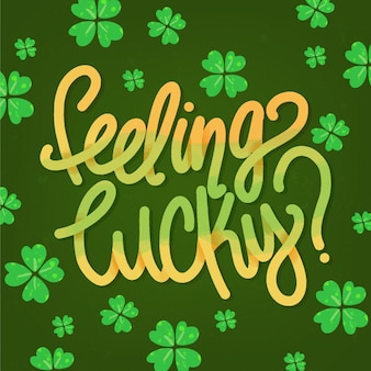 St. patrick's day lettering with clover