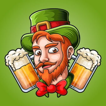 St patrick's day mascot illustration