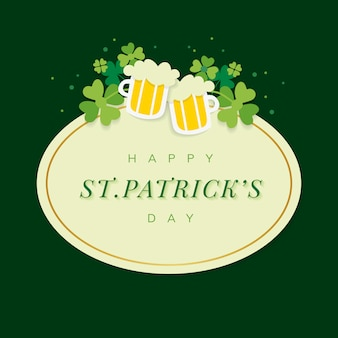 St.patrick's day oval badge vector