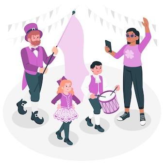 Иллюстрация концепции парада дня святого патрика
