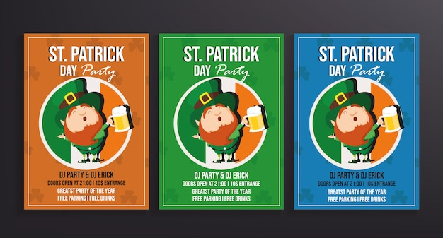 St patrick's day party flyer template