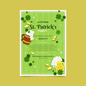 St. patrick's day party poster template
