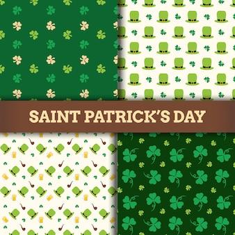 St. patrick's day pattern icon design
