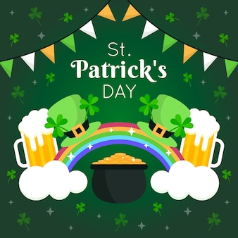 St. patrick's day rainbows and beers