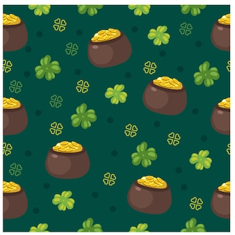 St patrick's day seamless pattern
