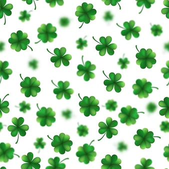 St. patrick s day shamrocks seamless pattern.