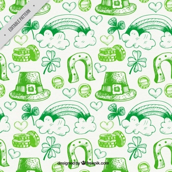 St. patrick's day sketches pattern