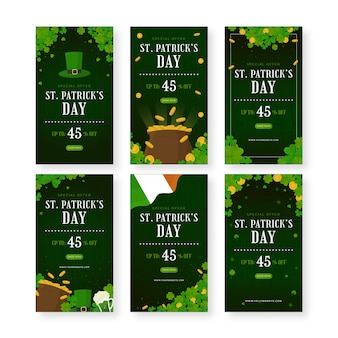 St. patrick's day social media post collection