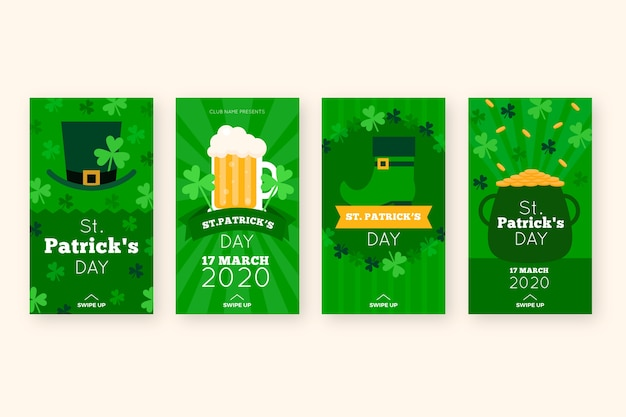 St. patrick's day social media stories and cauldron of gold