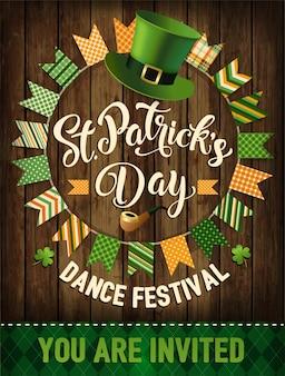 St. patrick's day vintage holiday badge design. vector illustration.