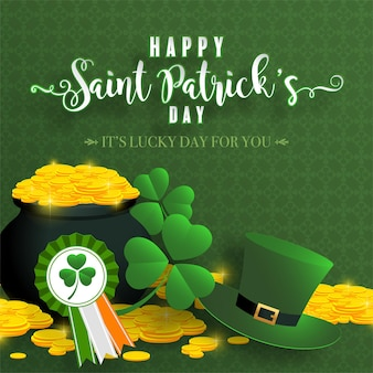 St.patrick's day with craft style paper cut
