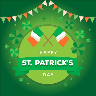 St. patrick's day with flags