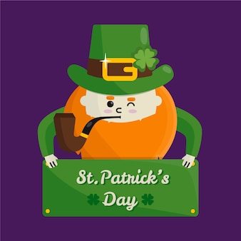 St. patrick's day with man winking