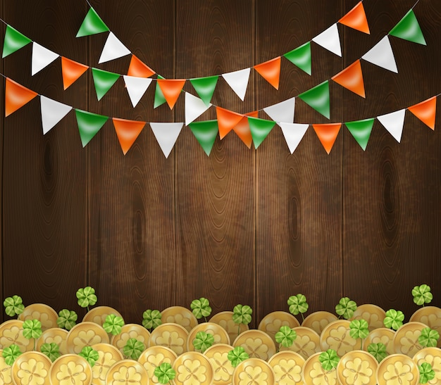 St patrick's holiday background