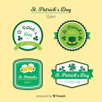 St patrick's label collection