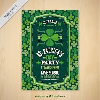 St. patrick's party flyer