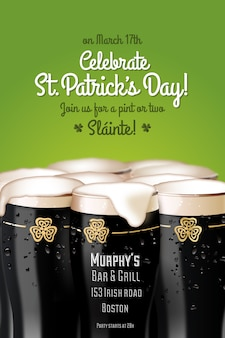 St. patrick's party poster design