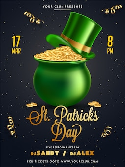 St. patrick's party poster template