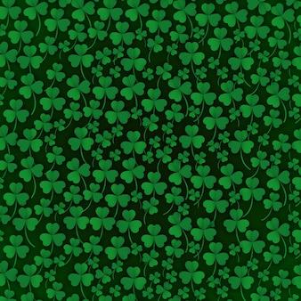 St Patrick's pattern background vector