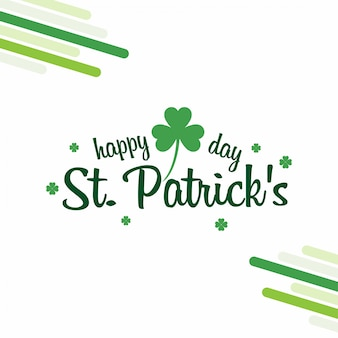 St patrick's with white background and typography