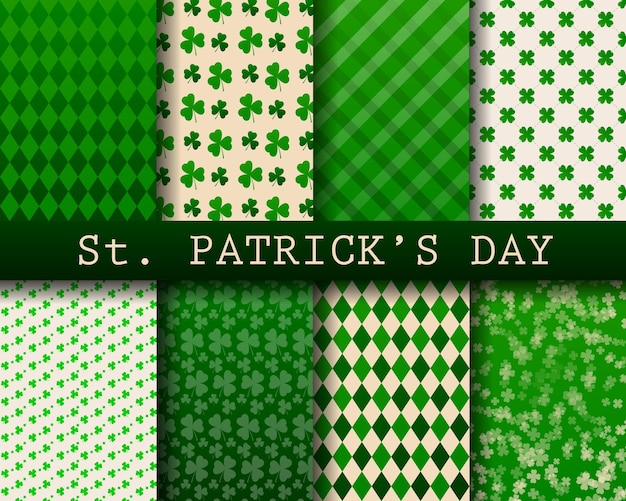 St.patricks day background collection, seamless pattern