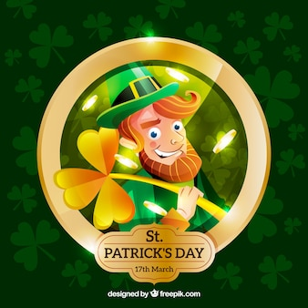 St patricks day background with imp