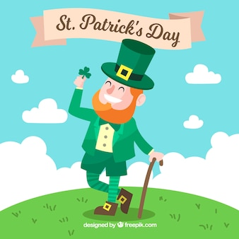 St patricks day background with man