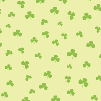 St patricks day background with shamrock pattern