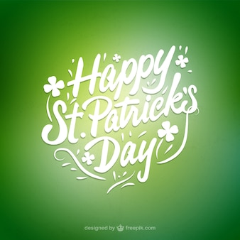 St patricks day card with lettering