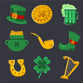 St. patricks day celebration element collection