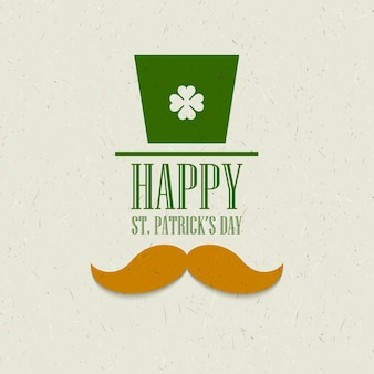 St. patricks day flat card design.  illustration