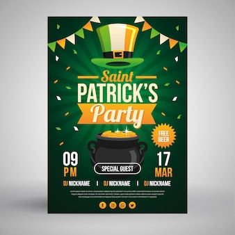 St. patricks day flyer template design
