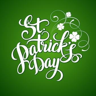 St. patricks day greeting card.  illustration