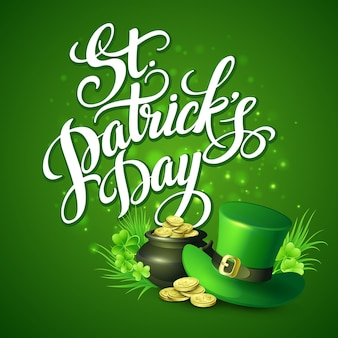 St. patricks day greeting.  illustration