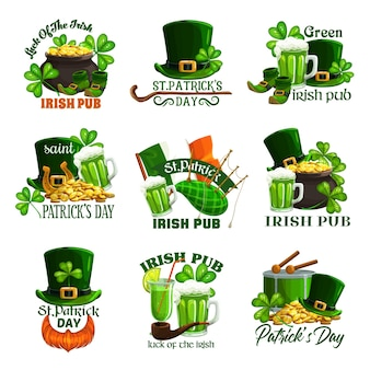 St patricks day holiday isolated