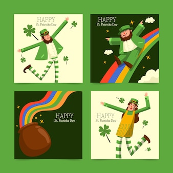 St. patricks day instagram post collection concept