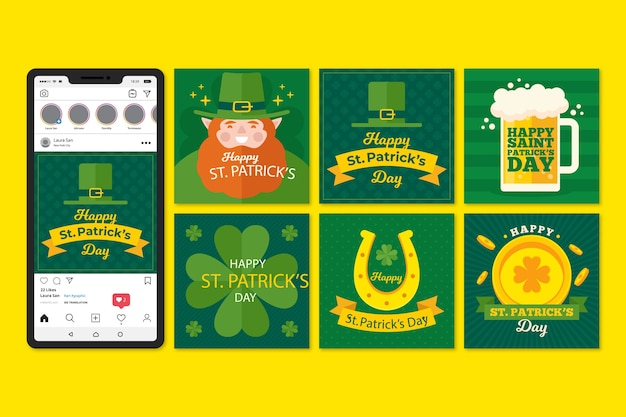 St. patricks day instagram post collection