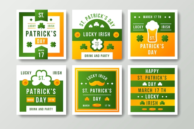 St patricks day instagram post collection