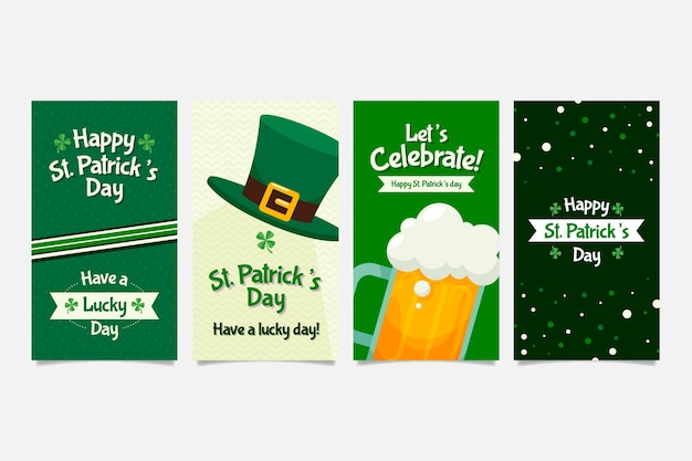 St. patricks day instagram stories collection