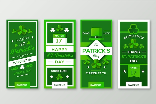 St patricks day instagram stories collection