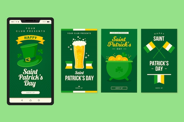 St. patricks day instagram stories design