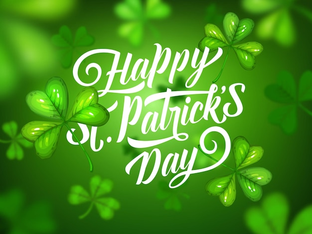 St patricks day irish holiday green clovers background