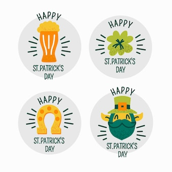 St. patricks day label/badge collection
