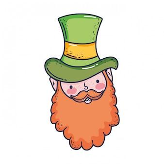 St patricks day leprechaun head character
