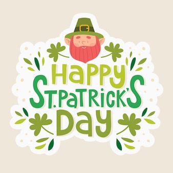 St patricks day lettering