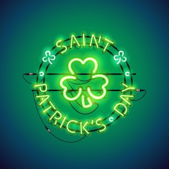 St patricks day neon sign