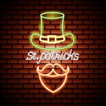 聖パトリックの日のネオン