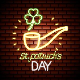 St patricks day neon Free Vector