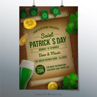 Святого патрика день плакат партии